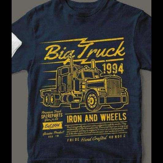 1994 IRON & WHEELS 18 Wheeler Life T-Shirt Custom Rare Artwork Design High Quality DTG Print *S-4XL*