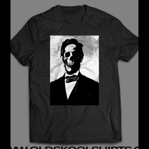 ABE LINCOLN SKULL SCARY SHIRT