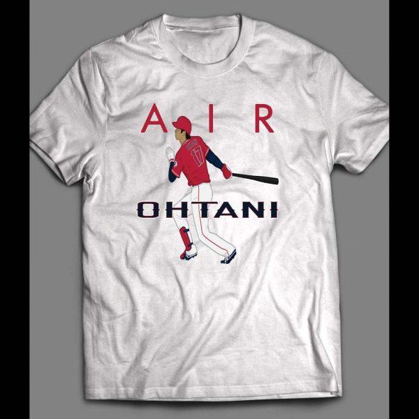 "PITCHER SHOHEI OHTANI ""AIR OHTANI"" CUSTOM ART SHIRT"