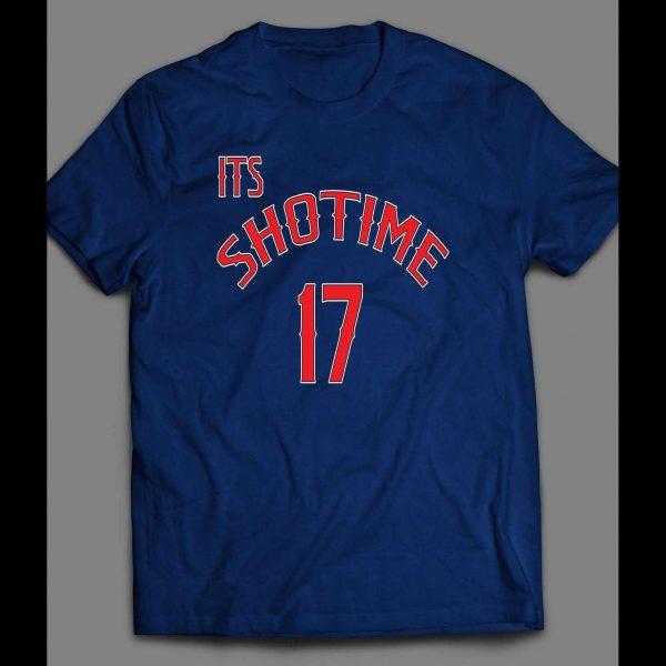 "PITCHER SHOHEI OHTANI ""IT SHOTIME17"" CUSTOM ART SHIRT"