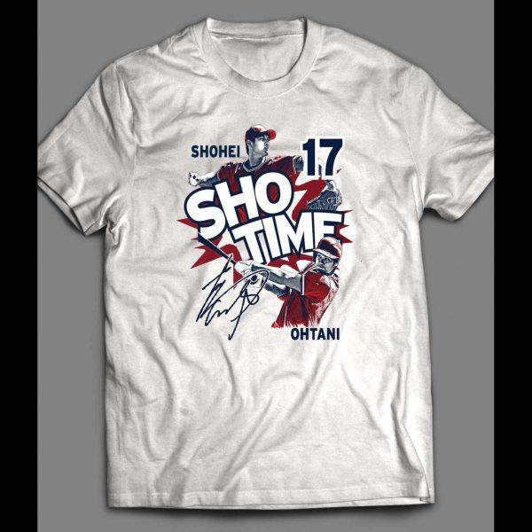 "PITCHER SHOHEI OHTANI ""SHOTIME 17"" CUSTOM ART SHIRT"