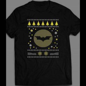 BATMAN LOGO CHRISTMAS UGLY SWEATER SHIRT