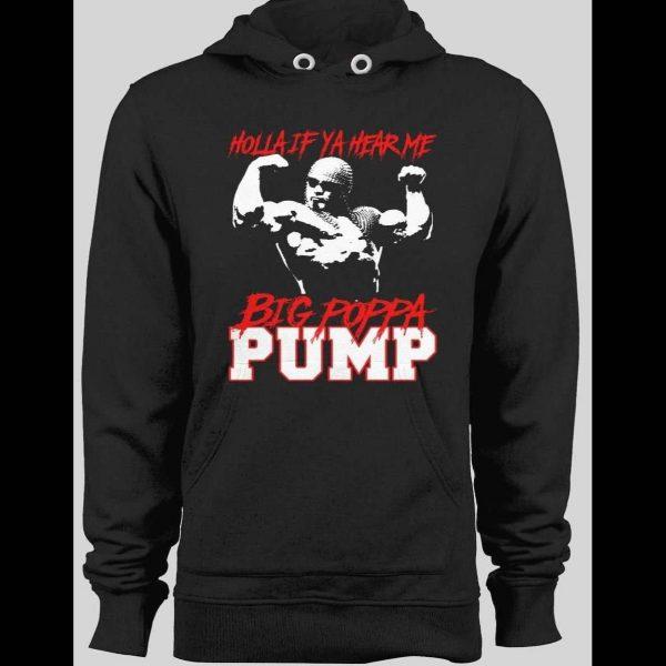BIG POPPA PUMP, SCOTT STEINER HOLLA IF YA HEAR ME! BLACK WINTER HOODIE