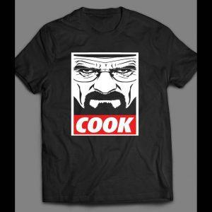 "BREAKING BAD ""COOK"" OBEY STYLE OLDSKOOL DESIGN SHIRT"