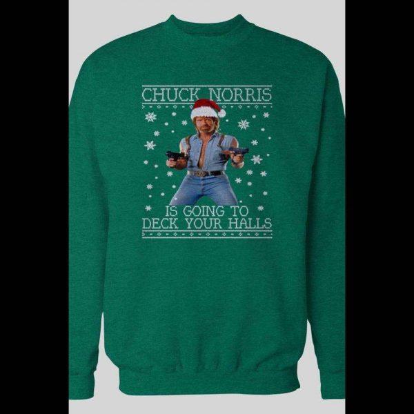 CHUCK NORRIS DECK YOUR HALLS CHRISTMAS WINTER SWEATSHIRT