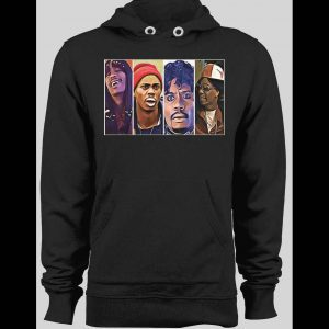 COMEDY CENTRAL'S DAVE CHAPPELLE CHARACTERS BLACK WINTER HOODIE