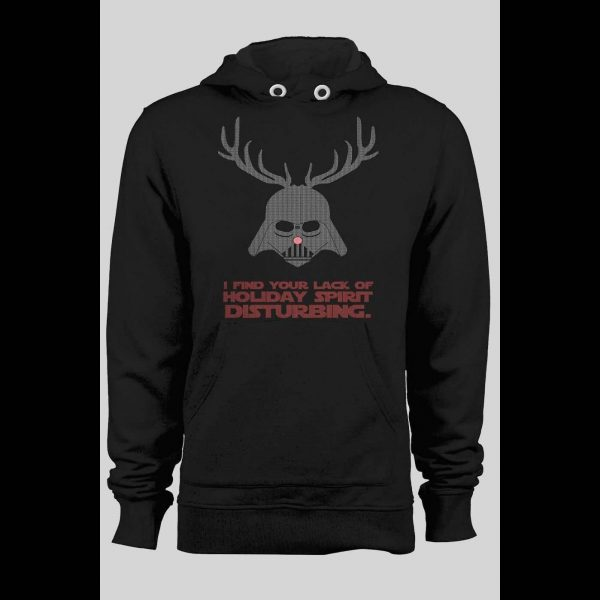 DARTH VADER I FIND YOUR LACK OF HOLIDAY SPIRIT DISTURBING PARODY WINTER PULL OVER HOODIE