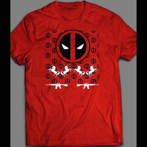 DEADPOOL UGLY CHRISTMAS SWEATER STYLE HOLIDAY SHIRT