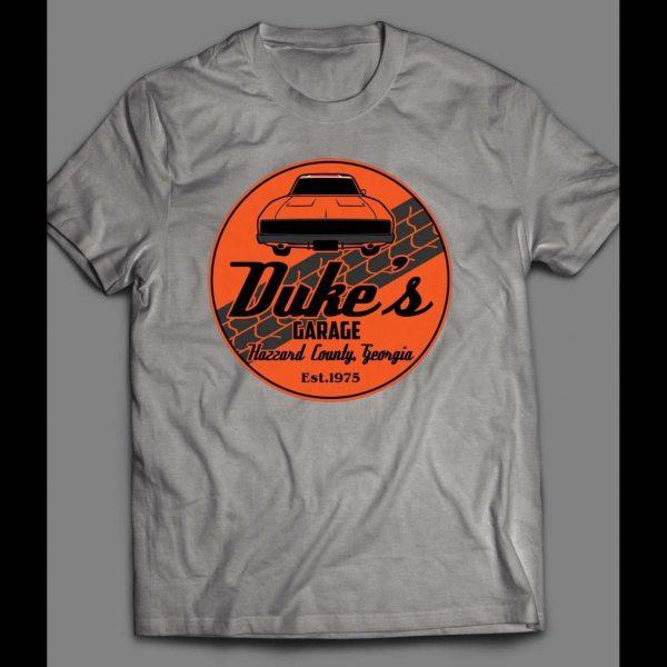 DUKE'S GARAGE FROM DUKES OF HAZARD TV SHOW SHIRT