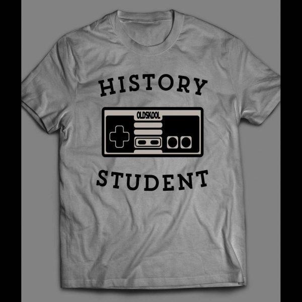 HISTORY STUDENT OLDSKOOL GAME CONTROLLER SHIRT