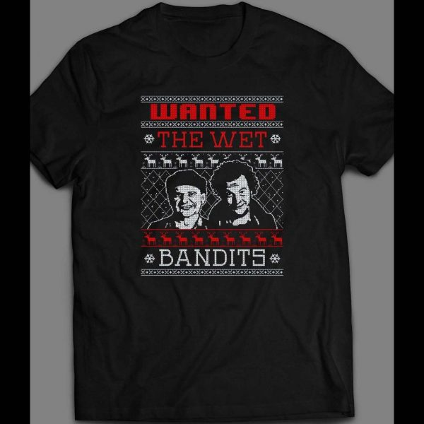 HOME ALONE THE WET BANDITS CHRISTMAS UGLY SWEATER SHIRT