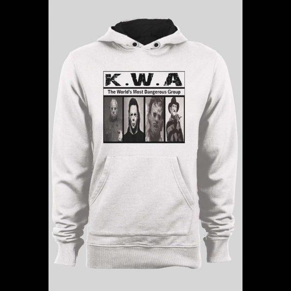 K.W.A HORROR MOVIE KILLERS NWA PARODY PULL OVER WINTER HOODIE