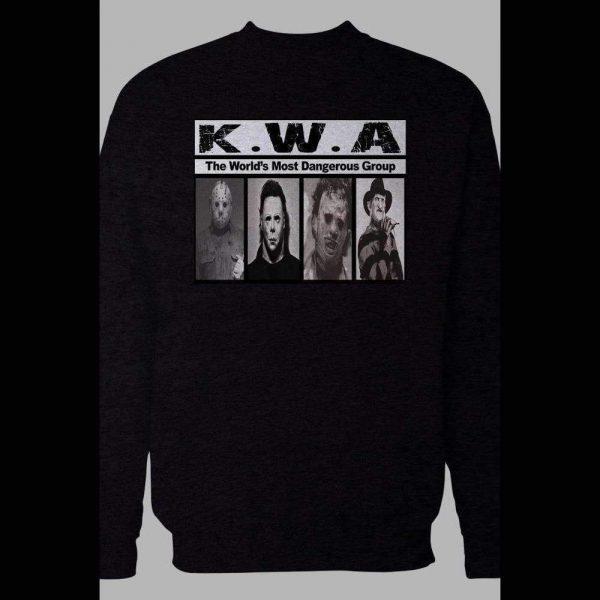 K.W.A. HORROR MOVIE KILLER NWA PARODY WINTER PULL OVER SWEATSHIRT