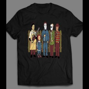 KING OF THE HILL HORROR MOVIE VILLAINS MASH UP SHIRT