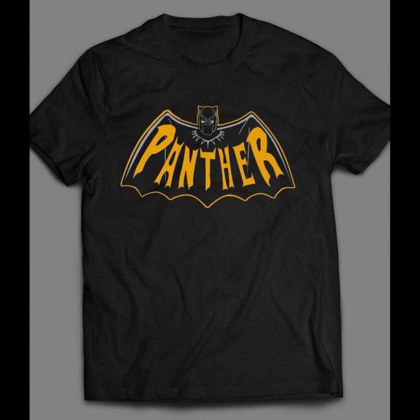 BLACK PANTHER BATMAN LOGO MASH UP SHIRT