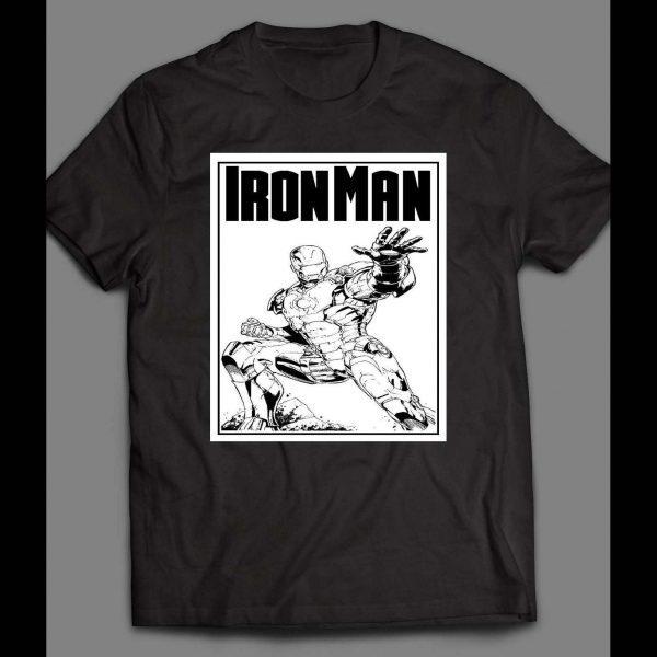 IRON MAN COMIC BOOK ART SHIRT