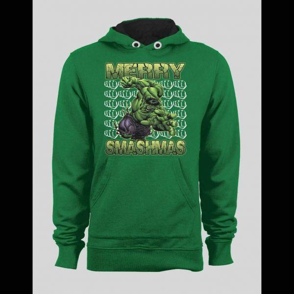 MERRY SMASHMAS HULK CHRISTMAS WINTER HOODIE