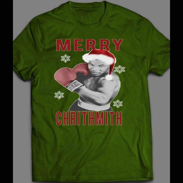 "MIKE TYSON ""MERRY CHRITHMITH"" FUNNY CHRISTMAS SHIRT"