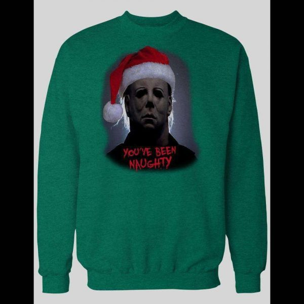 "MOVIE SERIAL KILLER MICHAEL MYERS ""YOU'VE BEEN NAUGHTY"" CHRISTMAS SWEATSHIRT"