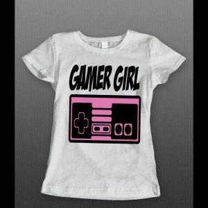 OLDSKOOL GAMER GIRL LADIES SHIRT