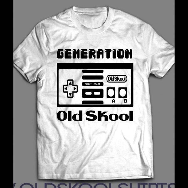 OLDSKOOL GENERATION GAMER CONTROLLER SHIRT