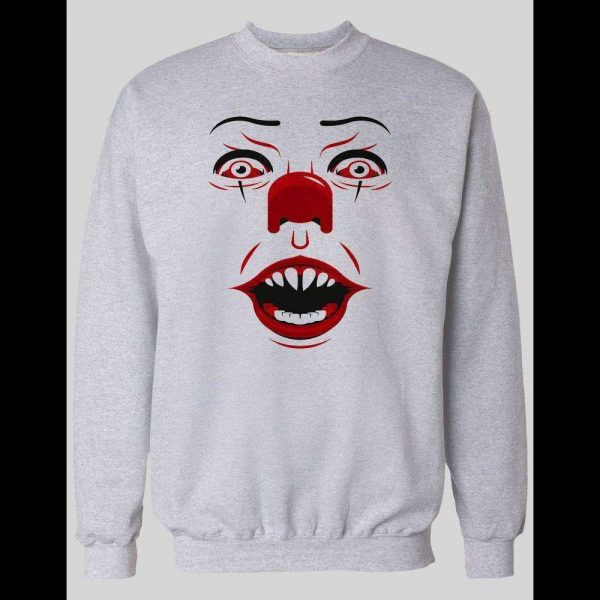 PENNYWISE KILLER CLOWN FACE WINTER PULL OVER SWEATSHIRT