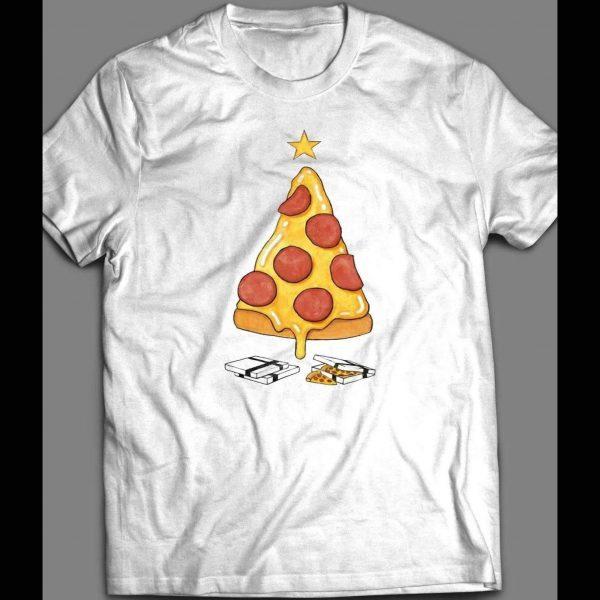 PIZZA CHRISTMAS TREE CHRISTMAS SHIRT