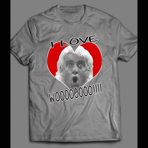 """PRO WRESTLER, THE 17 TIME WORLD CHAMP """"I LOVE WOOO!!!"""" VALENTINES DAY FUNNY SHIRT"""