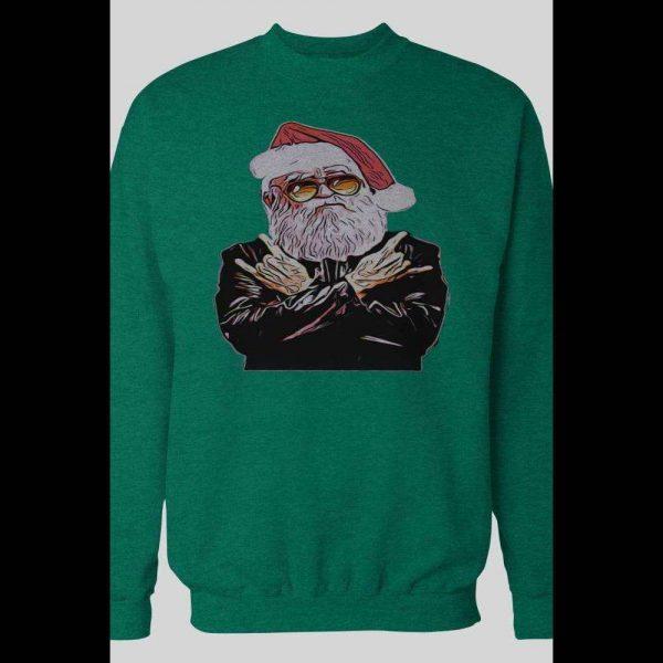 ROCKER SANTA MERRY CHRISTMAS WINTER SWEATSHIRT