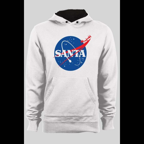 SPACE SANTA NASA PARODY CHRISTMAS WINTER PULL OVER HOODIE