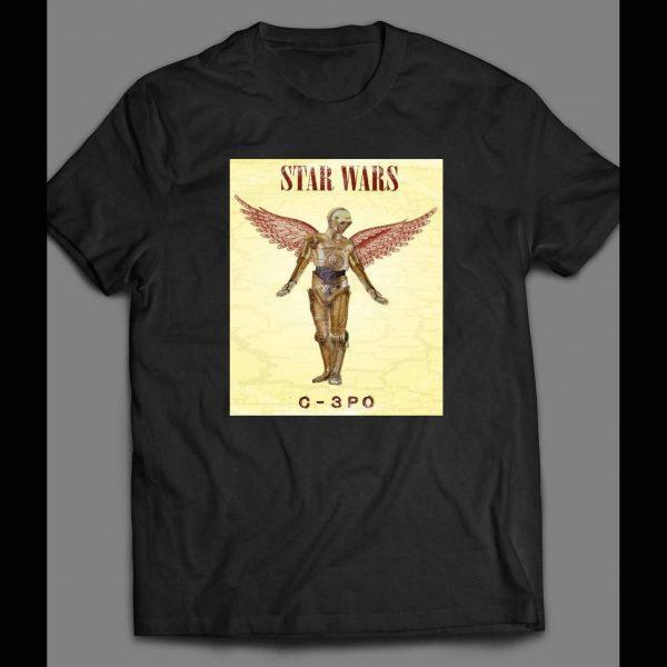 STAR WARS C-3PO WITH WINGS CUSTOM ART SHIRT