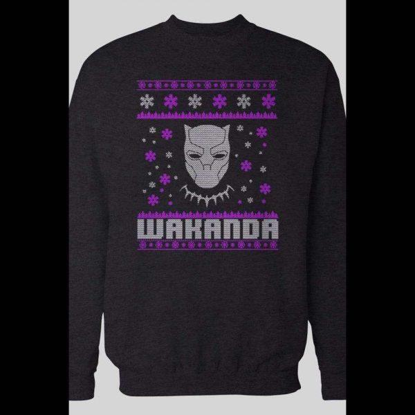 THE BLACK PANTHER WAKANDA UGLY CHRISTMAS SWEATSHIRT