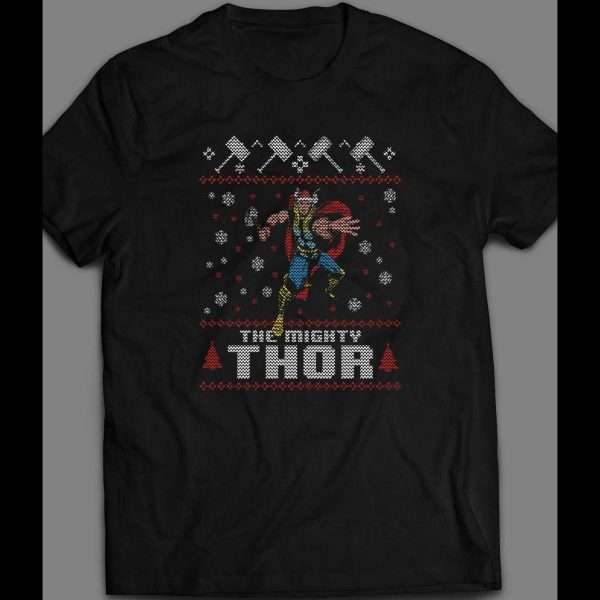 THE MIGHTY THOR CHRISTMAS UGLY SWEATER SHIRT