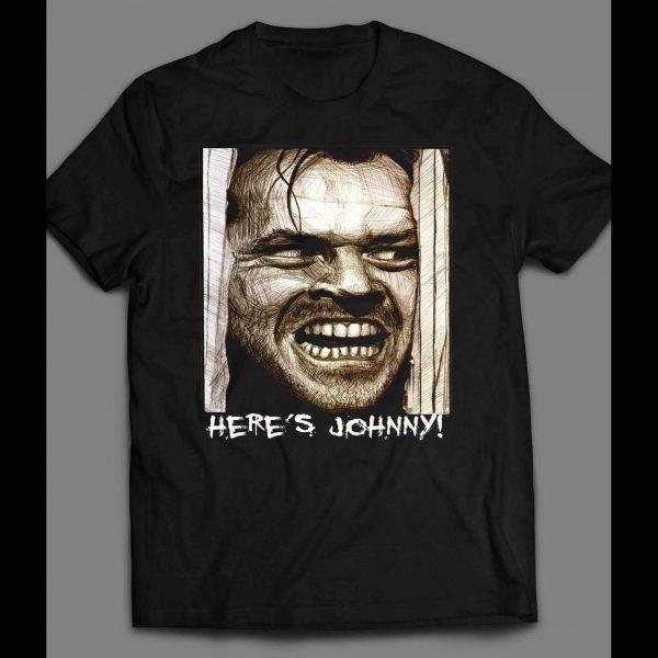 "THE SHINING ""HERE'S JOHNNY"" HALLOWEEN HORROR SHIRT"