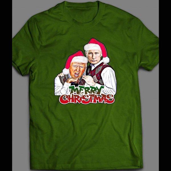 TRUMP AND PUTIN MERRY CHRISTMAS SHIRT