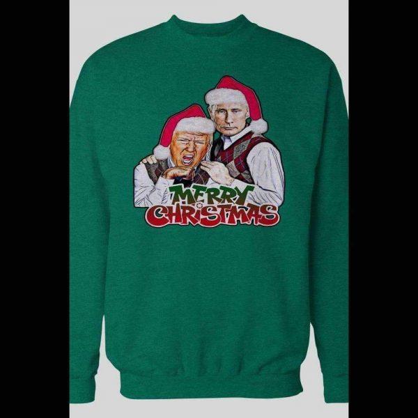 TRUMP AND PUTIN TWINS PARODY MERRY CHRISTMAS SWEATSHIRT