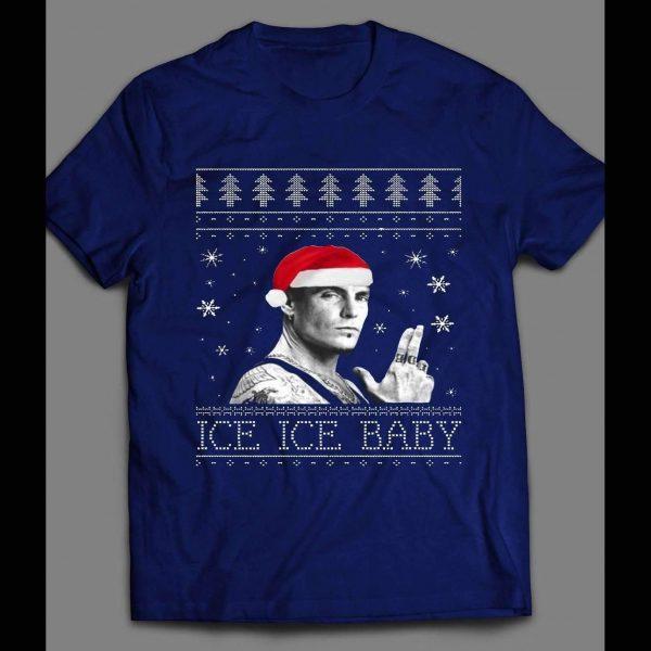 "VANILLA ICE ""ICE ICE BABY"" CHRISTMAS SHIRT"
