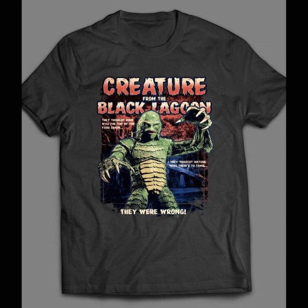 VINTAGE CREATURE FROM THE BLACK LAGOON MOVIE POSTER SHIRT