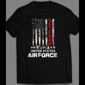 MILITARY U.S. AIR FORCE VETERAN AMERICAN FLAG 4TH OF JULY SHIRT