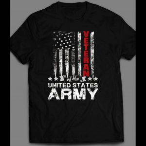 MILITARY U.S. ARMY VETERAN AMERICAN FLAG 4TH OF JULY SHIRT