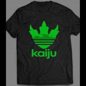 "GODZILLA ""KAIJU"" ATHLETIC LOGO INSPIRED MASH UP SHIRT"