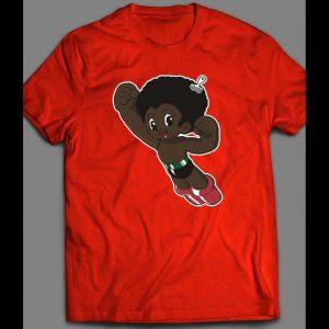 AFRO BOY ASTROBOY PARODY COMIC BOOK CHARACTER PARODY SHIRT