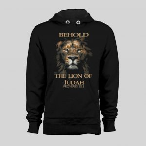 BEHOLD THE LION OF JUDAH CHRISTIAN PROVERBS VERSE WINTER HOODIE
