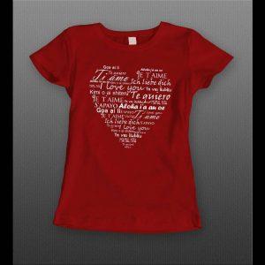 LADIES LANGUAGES OF LOVE VALENTINE'S DAY SHIRT