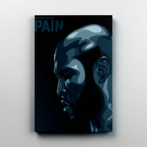 """ROCKY 3 CLUBBER LANG PREDICTION PAIN CUSTOM PRINT ON 11"""" X 14"""" CANVAS"""