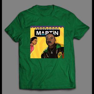 "ACTIVIST MARTIN LUTHER KING JR ""TV SHOW"" PARODY ART SHIRT"
