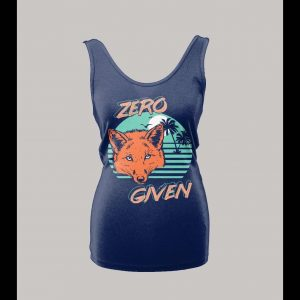 ZERO FOX GIVEN 80's RETRO OLDSKOOL CUSTOM LADIES TANK TOP