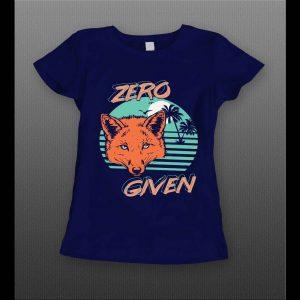 ZERO FOX GIVEN 80's RETRO OLDSKOOL CUSTOM LADIES SHIRT
