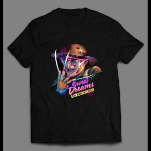 1980s RETRO STYLE FREDDY KRUEGER SWEET DREAMS ARE MADE OF THESE SHIRT