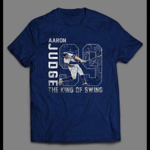 AARON KING OF THE SWING ART BASEBALL SHIRT